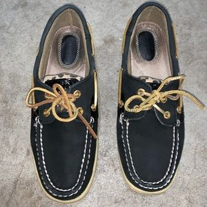 Sperry Bluefish Black/Leopard US 7.5M